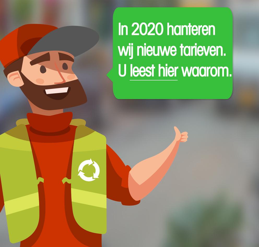 Afvalcontainers Noord Holland prijsverhoging 2020
